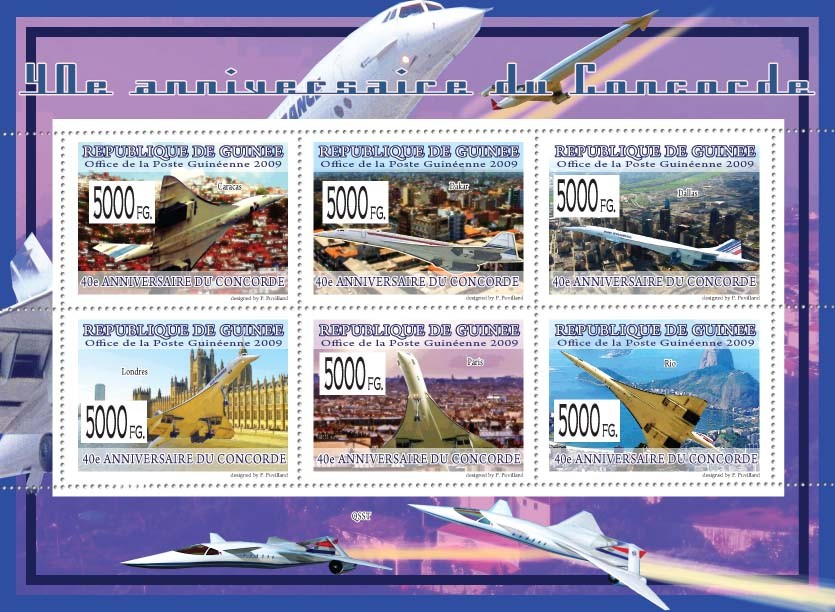 40th Anniversary of Concorde III - Issue of Guinée postage stamps