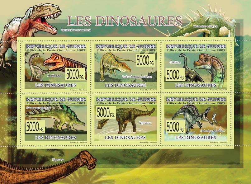 Dinosaurs, Brachionosaurus, Nigersaurus, Giraffatitan, etc - Issue of Guinée postage stamps
