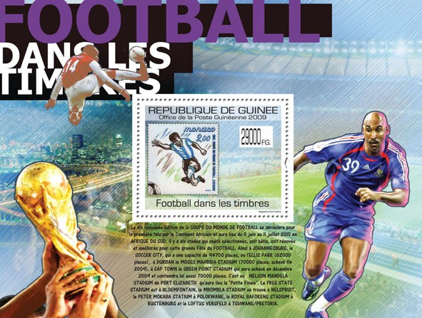 Football on Stamps, Stamp of Monaco ( Football ) - Issue of Guinée postage stamps