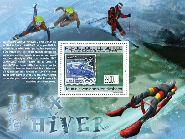 Winter Games on Stamps, Stamp of Monaco - Issue of Guinée postage stamps
