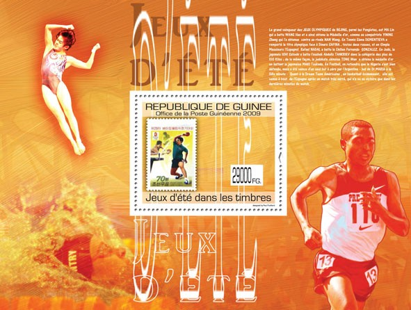 Summer Games on Stamps, Stamp of North Korea - Issue of Guinée postage stamps