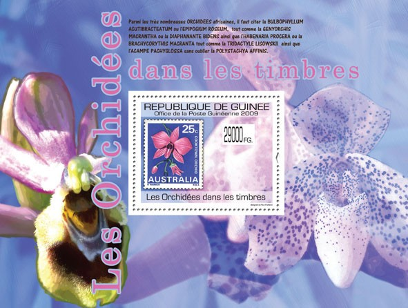 Orchids on Stamps, Stamp of Australia - Issue of Guinée postage stamps
