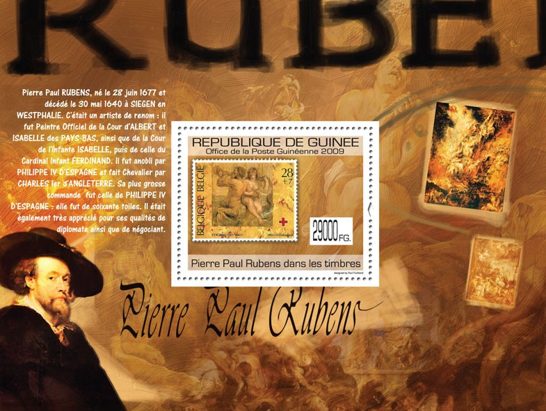 Pierre Paul Rubens on Stamps, Stamp of Belgium - Issue of Guinée postage stamps