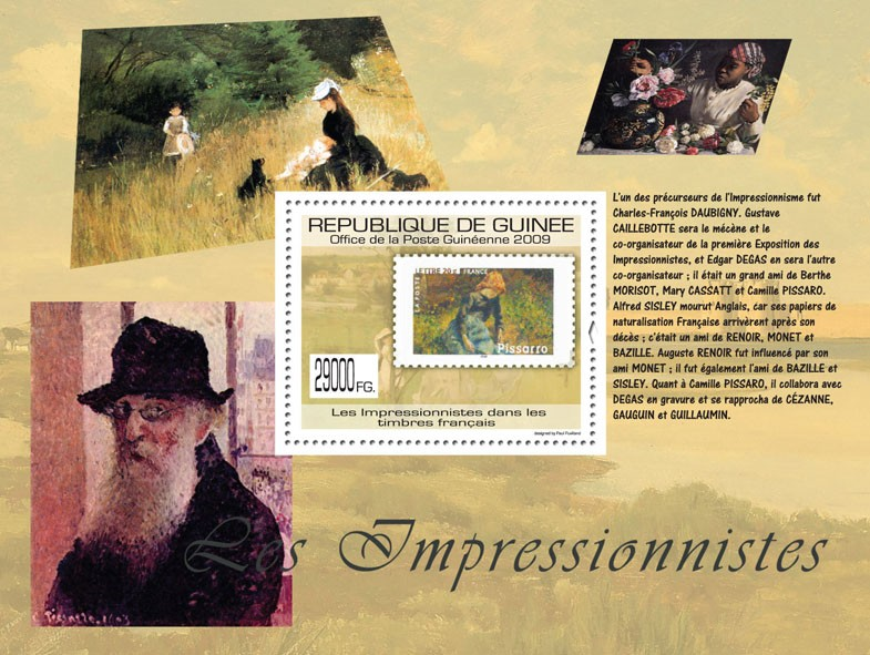 Impressionists on Stamps, Stamp of France - Issue of Guinée postage stamps