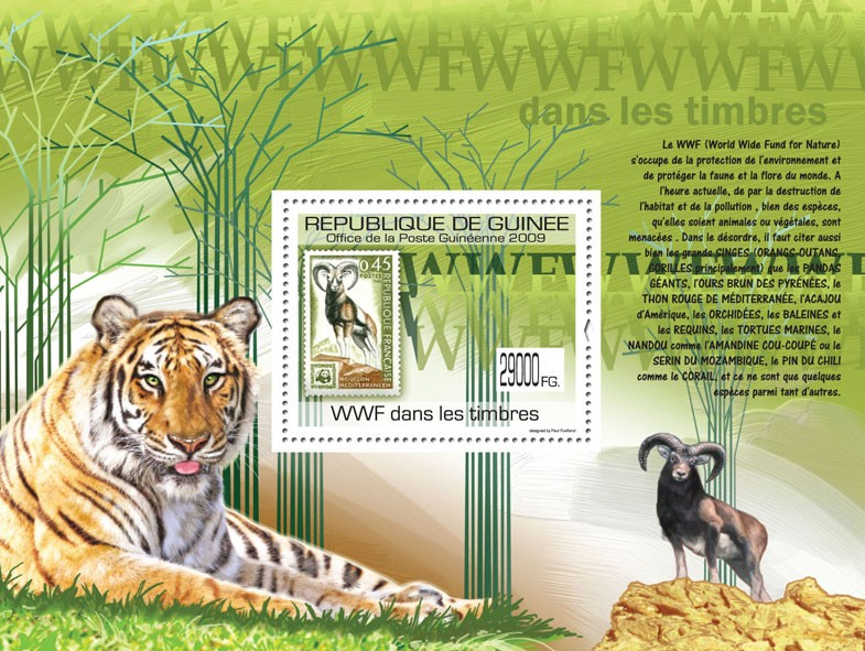 WWF on Stamps, Stamp of France - Issue of Guinée postage stamps