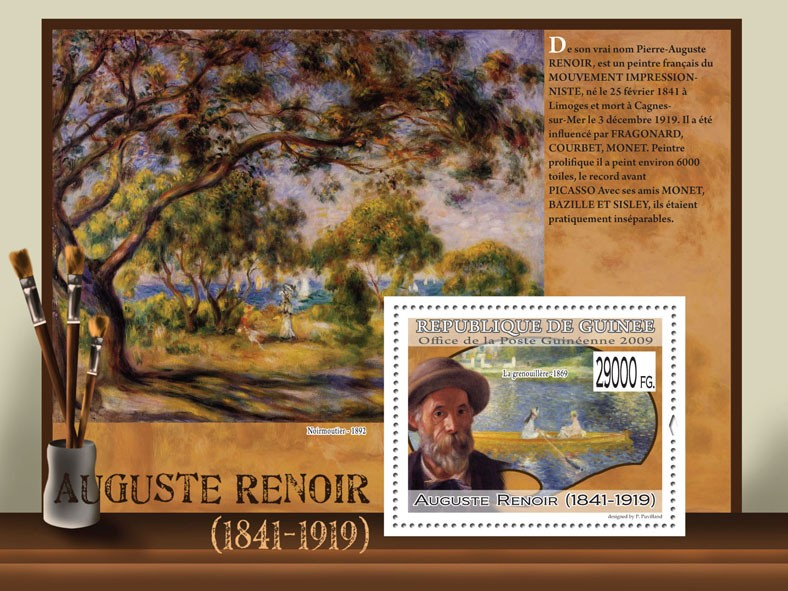 Paintings of Augustine Renoir ( 1841  1919 ) - Issue of Guinée postage stamps