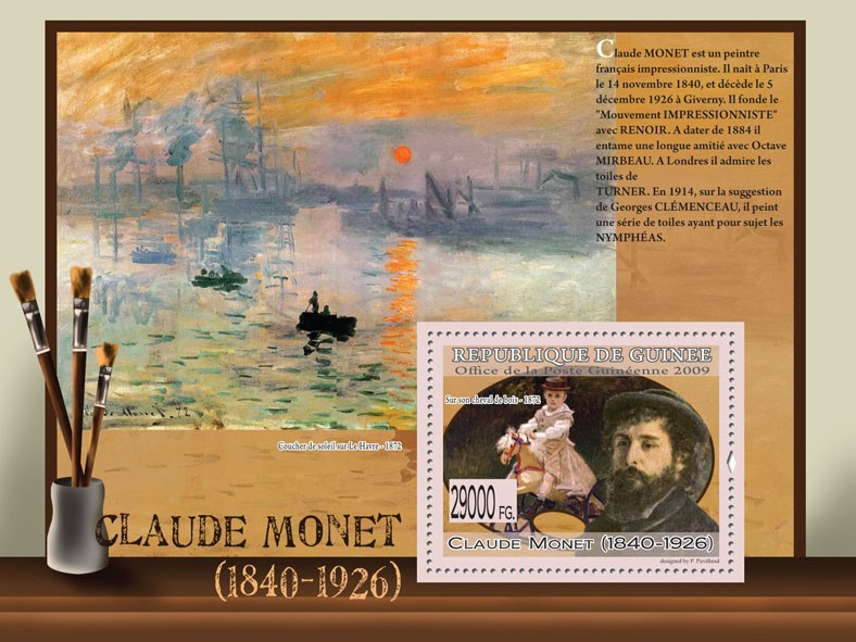 Paintings of Claude Monet ( 1840  1926 ) - Issue of Guinée postage stamps