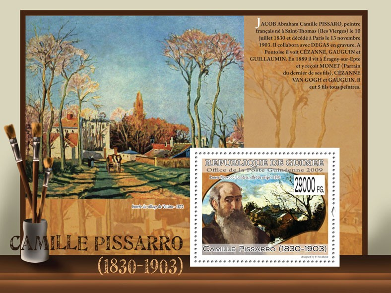Paintings of Camille Pisasaro ( 1830  1903 ) - Issue of Guinée postage stamps