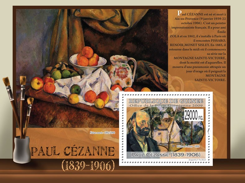 Paintings of Paul Cezanne ( 1839  1906 ) - Issue of Guinée postage stamps
