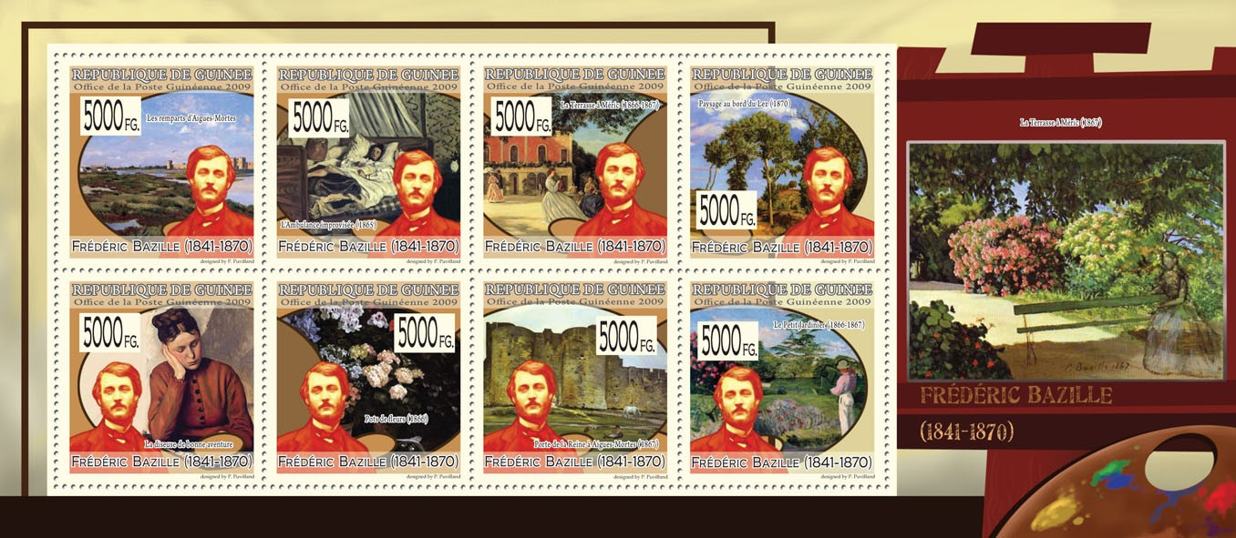 Paintings of Frederick Bazille ( 1841  1870 ) - Issue of Guinée postage stamps