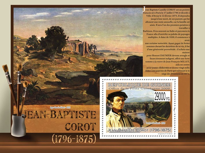 Paintings of Jean-Baptiste Corot  (1796  1875) - Issue of Guinée postage stamps