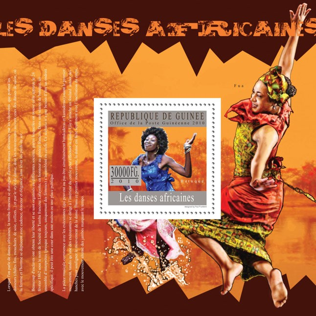 Dances of Africa ( Batugue, Fua ) - Issue of Guinée postage stamps