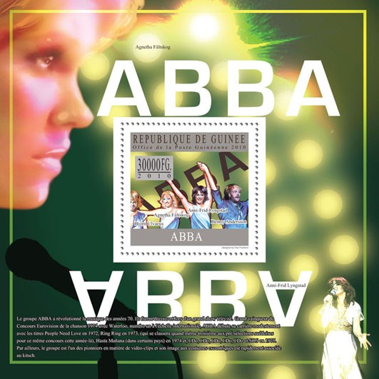 Abba - Issue of Guinée postage stamps