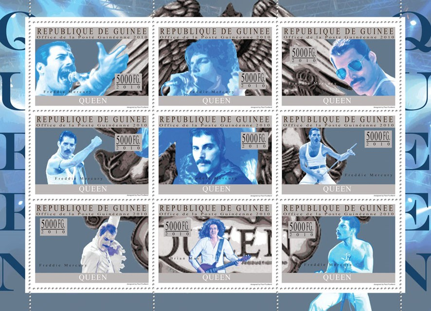 Queen - Issue of Guinée postage stamps