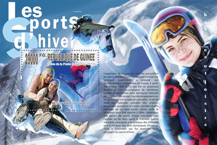 Winter Spots, (Snowboarding) - Issue of Guinée postage stamps