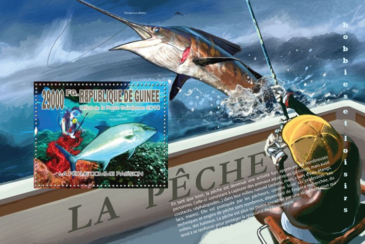 Passion of Fishing, (Fishes) - Issue of Guinée postage stamps