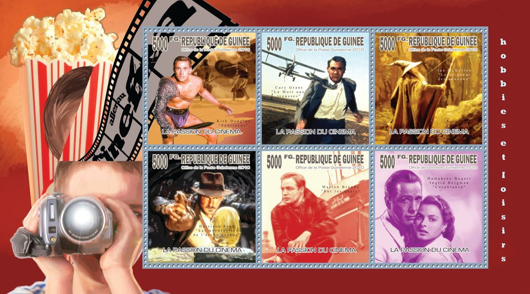 Passion for Cinema - Issue of Guinée postage stamps