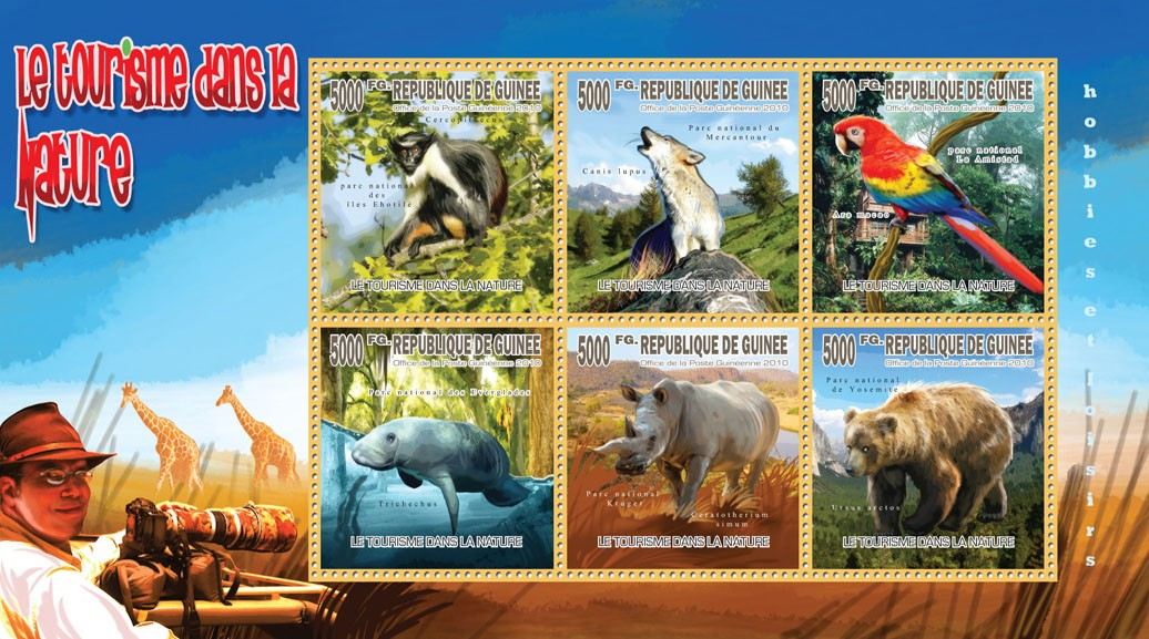 Tourism in the Nature (Fauna & Flora) - Issue of Guinée postage stamps