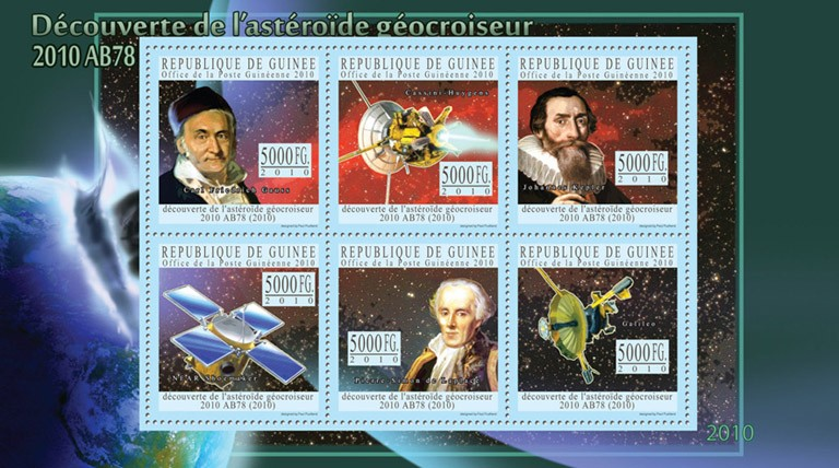 Discovery of Near-Earth Asteroid, - Issue of Guinée postage stamps