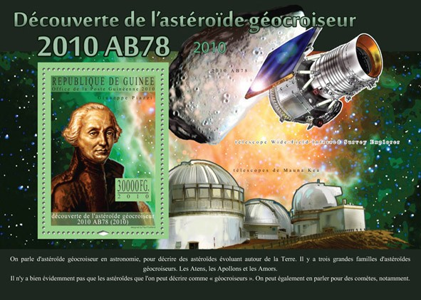 Discovery of Near-Earth Asteroid, ( Giuseppe Piazzi ). - Issue of Guinée postage stamps