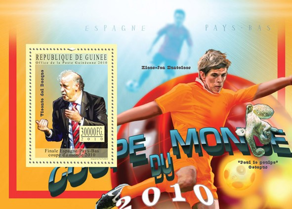 World Football Cup - South Africa 2010, ( Spain ).  - Issue of Guinée postage stamps