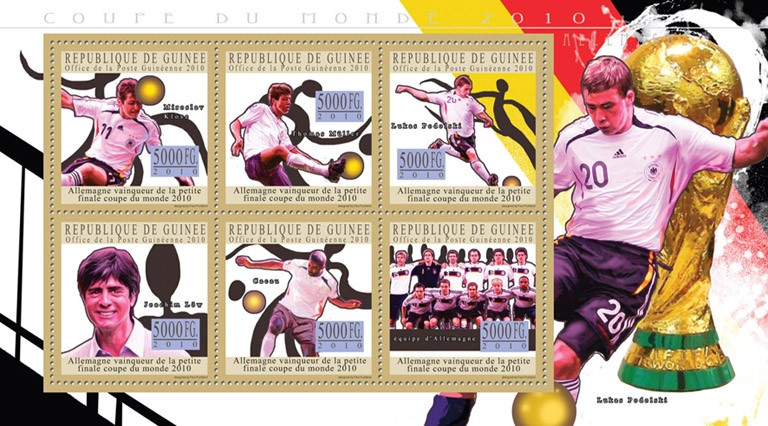 World Football Cup - South Africa 2010, ( Germany ). - Issue of Guinée postage stamps