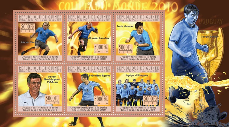 World Football Cup - South Africa 2010 ( Uruguay ). - Issue of Guinée postage stamps
