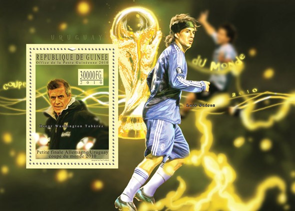 World Football Cup - South Africa 2010, ( Uruguay ). - Issue of Guinée postage stamps