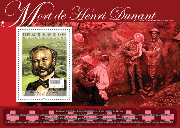 Henri Dunant (1828-1910) - Issue of Guinée postage stamps