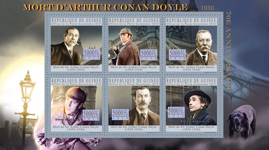 Arthur Conan Doyle (1859-1930) - Issue of Guinée postage stamps