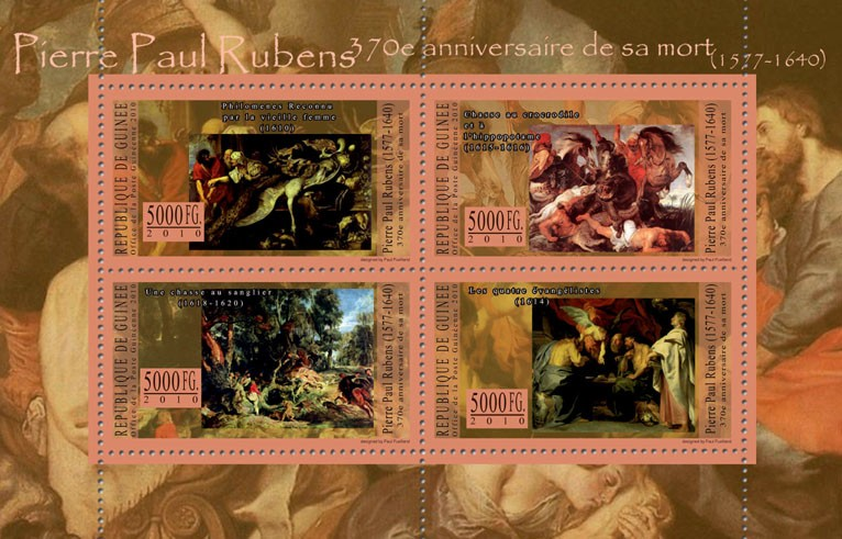 70th Anniversary of Death of Pierre Paul Rubens - Issue of Guinée postage stamps