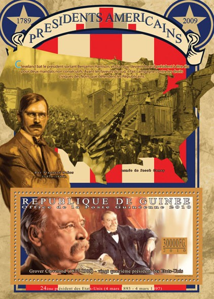 The President of USA-Grover Cleveland, (1837-1908). - Issue of Guinée postage stamps