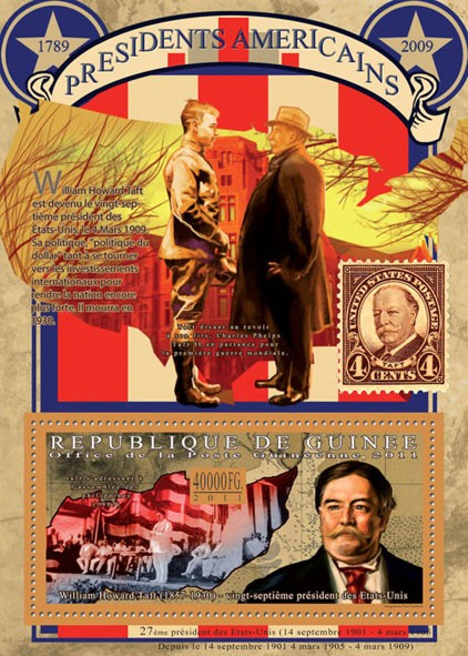 The President of USA-William Howard Taft, (1857-1930). - Issue of Guinée postage stamps