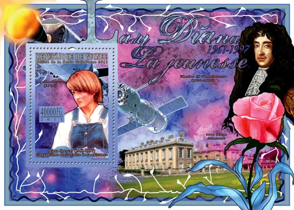 50th Anniversary of Lady Diana, (1961-1997) I. - Issue of Guinée postage stamps