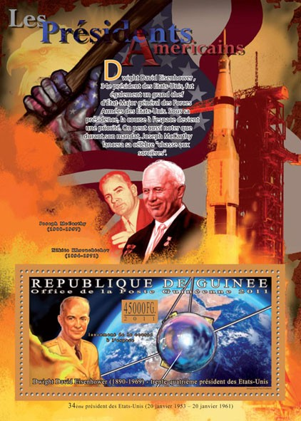 The President of USA - Dwight David Eisenhower, (1890-1969). - Issue of Guinée postage stamps