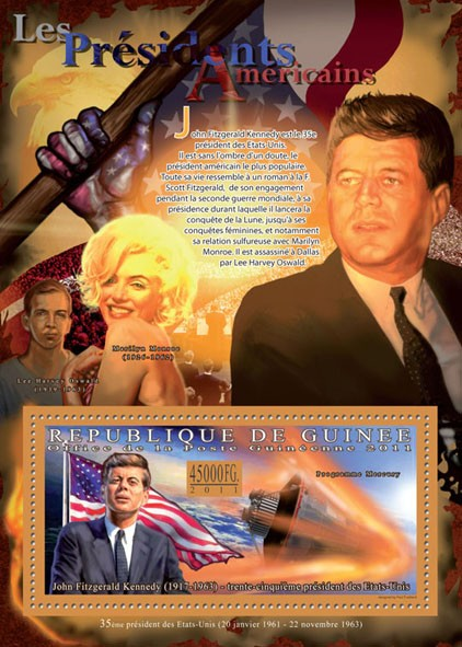The President of USA - John Fitzgerald Kennedy, (1917-1963). - Issue of Guinée postage stamps