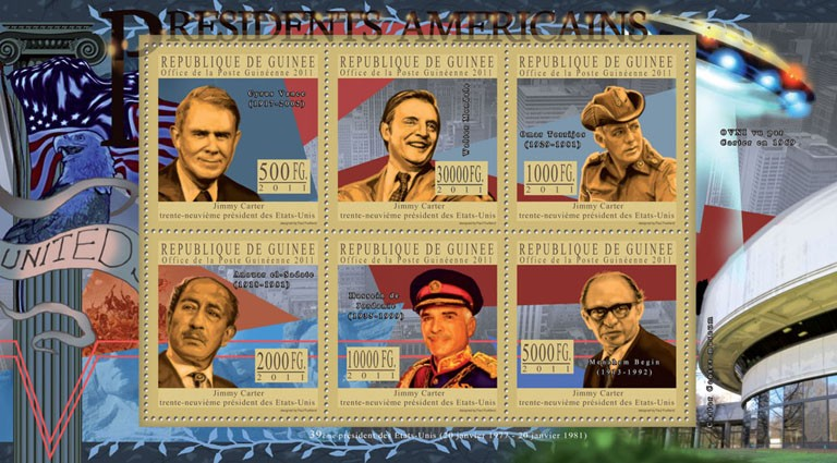 The President of USA - Jimmy Carter. - Issue of Guinée postage stamps