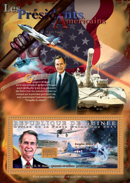 The President of USA - George H. W. Bush. - Issue of Guinée postage stamps