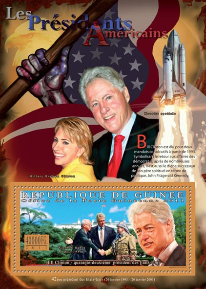 The President of USA - Bill Clinton. - Issue of Guinée postage stamps