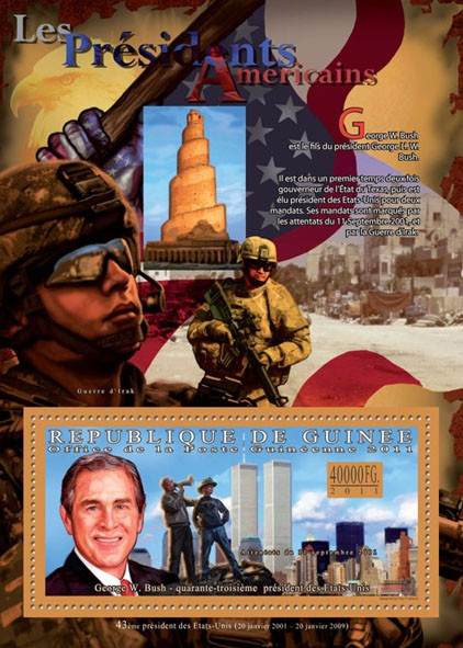 The President of USA - George W. Bush. - Issue of Guinée postage stamps