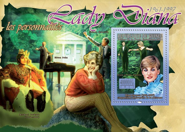 50th Anniversary of Lady Diana, (1961-1997) VIII. - Issue of Guinée postage stamps