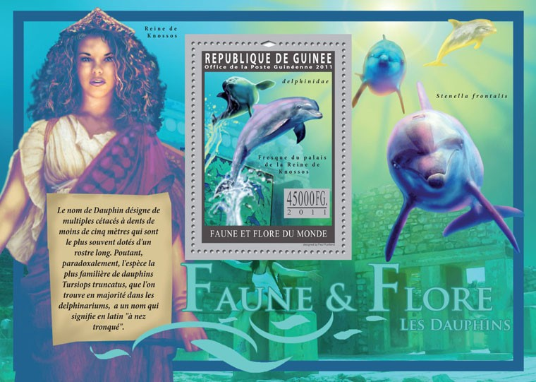 Dolphins. - Issue of Guinée postage stamps