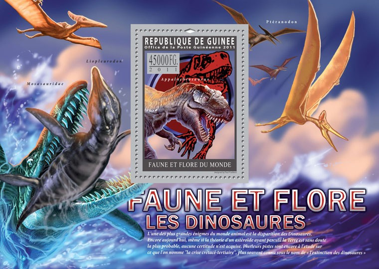 Dinosaurs. - Issue of Guinée postage stamps