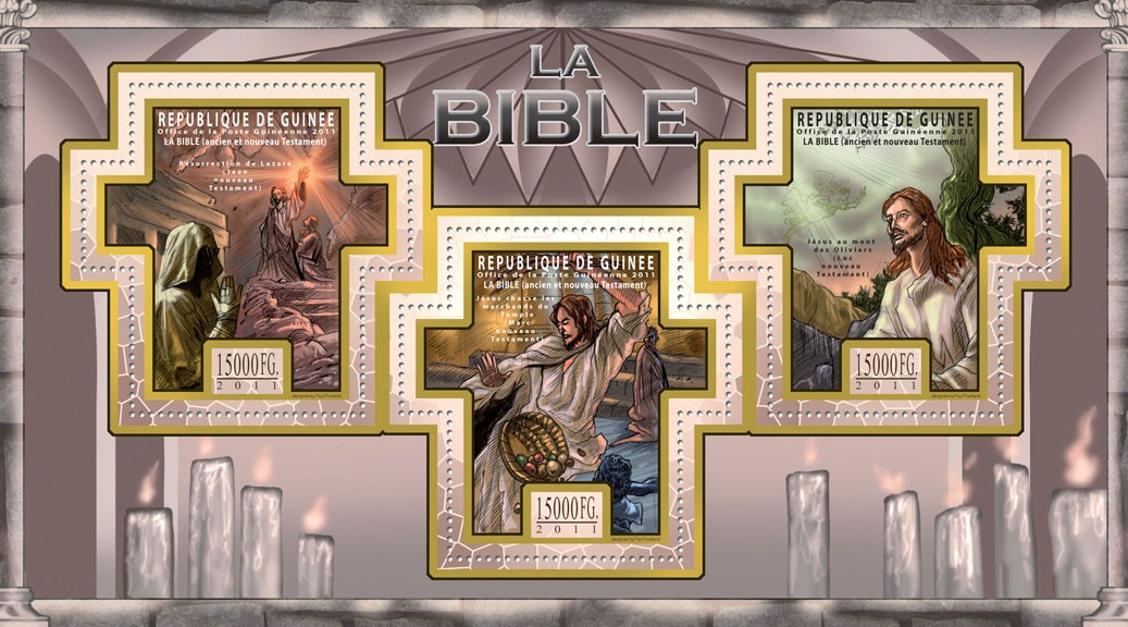 The Bible, Old & New Testaments II. - Issue of Guinée postage stamps
