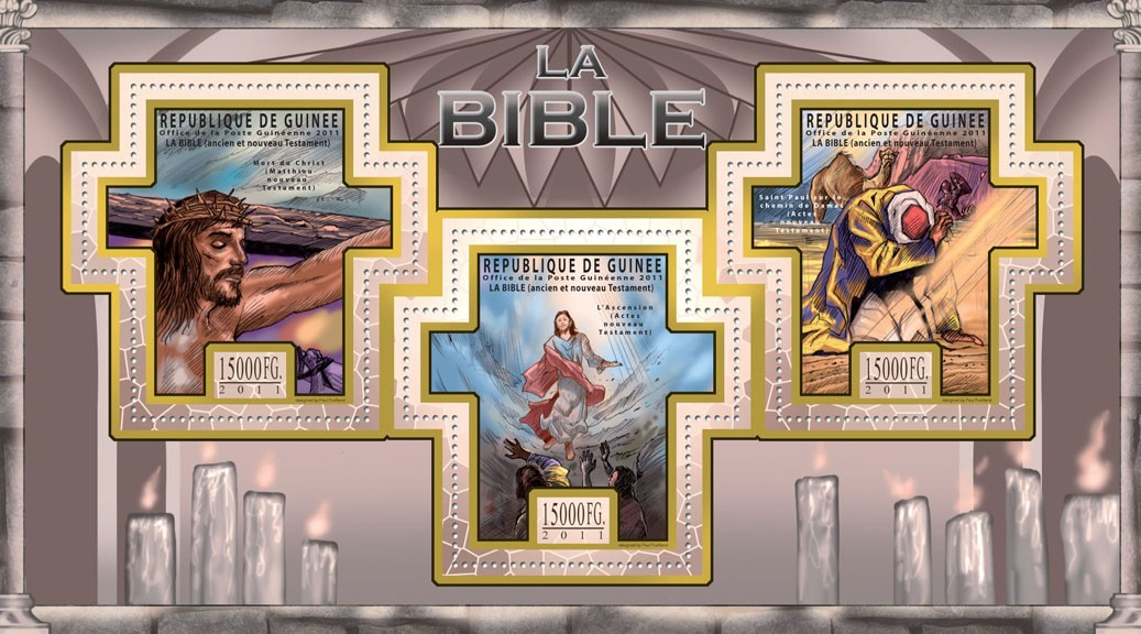 The Bible, Old & New Testaments III. - Issue of Guinée postage stamps