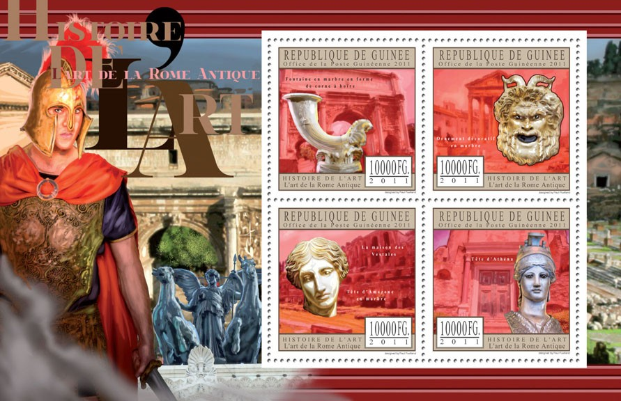 Art of Ancient Rome. - Issue of Guinée postage stamps