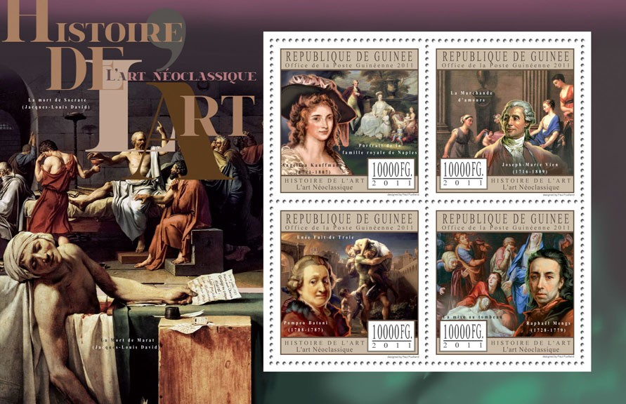 Neoclassical Art. - Issue of Guinée postage stamps