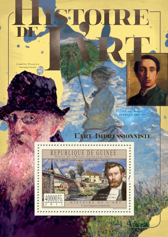 Impressionist Art. - Issue of Guinée postage stamps