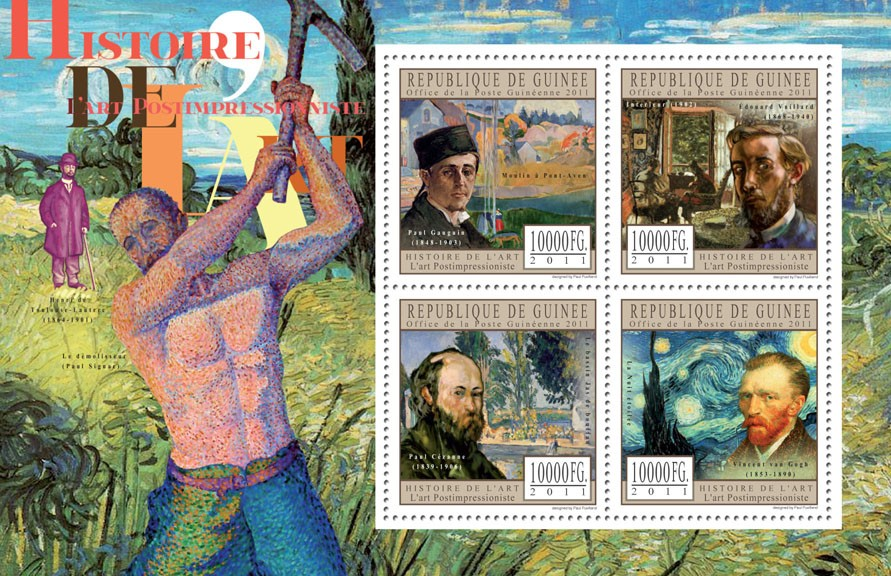 Postimpressionist Art. - Issue of Guinée postage stamps