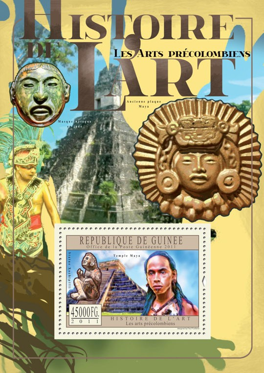 Pre-Columbian Art. - Issue of Guinée postage stamps